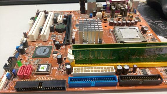 Kit Placa775 Itautec St 1350 Ddr2 De 1g Dual-core 2160