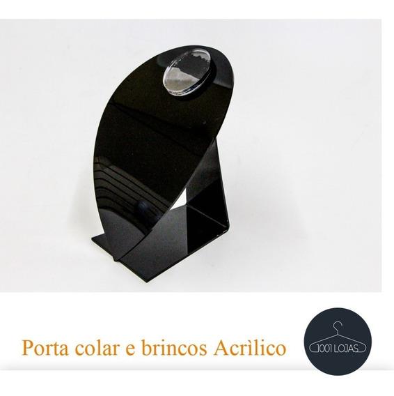 Expositor Colar E Brinco Busto Acrílico Kit 1*