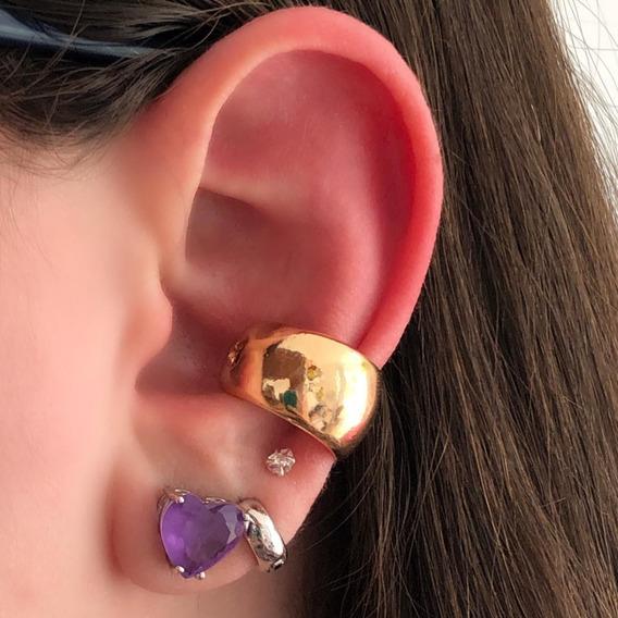 Piercing De Orelha Conch Cartilagem Pressão Falso Grosso Dou