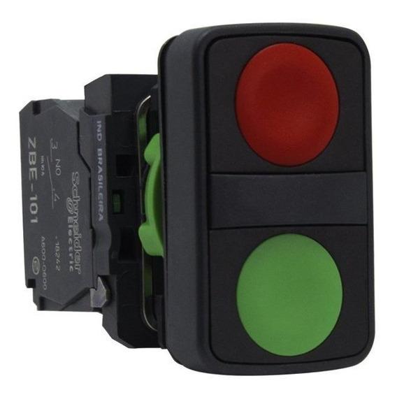 Botão Duplo Pulsador 22mm 1na + 1 Nf Xb5aa7340 Schneider