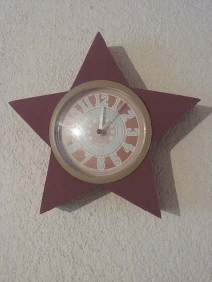 Reloj Estrella Pared Decoracion