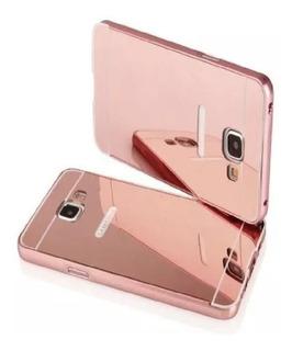 Funda Samsung Espejada, Marco Marco Y Botones En Aluminio