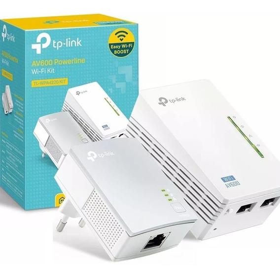 Power Line Wi-fi Tp Link 4220 2 Kit Adaptador Rede Elétrica