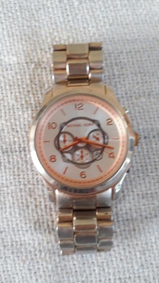Relógio Masculino Réplica M Kors Mk807tq Dourado Cod 3283