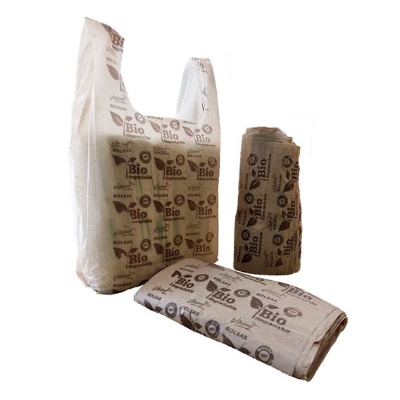 Bolsa Tipo Camiseta 100% Biodegradable Vitabag 1 Kg