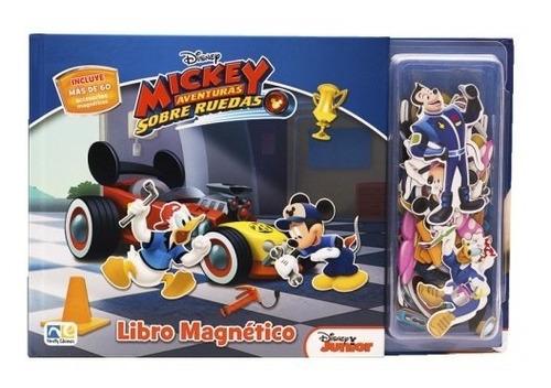 Libro Magnetico Mickey Aventuras Sobre Ruedas Disney Junior