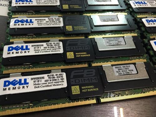 Imagem 1 de 10 de Kit 16gb 4x4gb Pc2-5300f Dell Poweredge 1900 1950 2900 2950