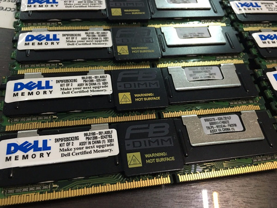 Kit 16gb 4x4gb Pc2-5300f Dell Poweredge 1900 1950 2900 2950