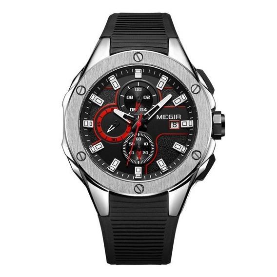Relógio Masc Esportivo Megir Original 3d 2053 Luxo Promoção