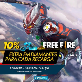 Free Fire 170 Diamantes +10% Bônus Recarga P/ Conta
