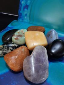 Kit 09 Pedras Gemas Polidas Semipreciosas Jade Obsdiana 235g