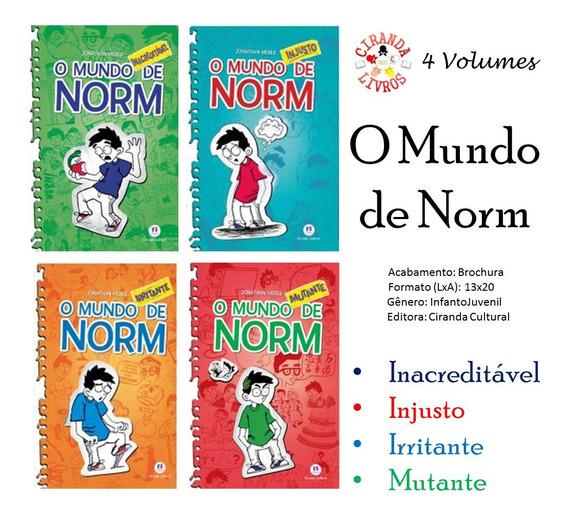 4 Livros O Mundo De Norm - Literatura Infanto Juvenil