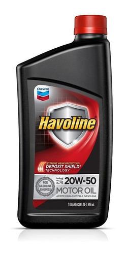 Aceite Motor Nafta Havoline 20w50 Lubricante Americano 1 Lt
