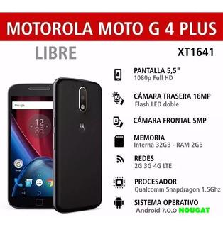 Motorola Moto G4 Plus Perfecto Estado + Forro + Android 7.0