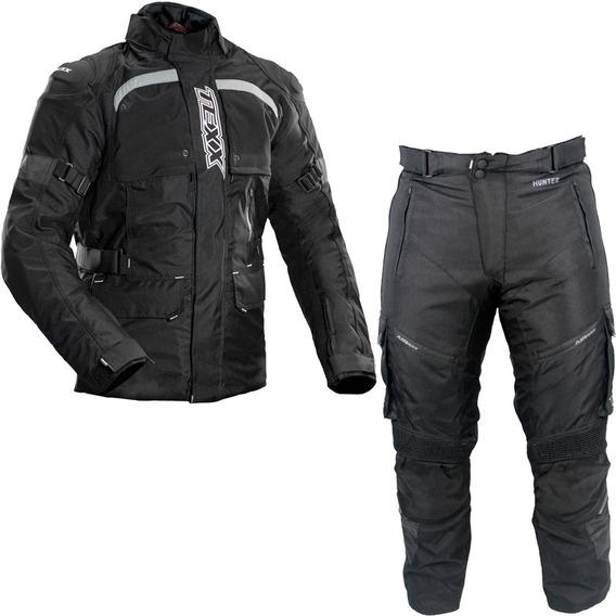 Conjunto Motociclista Texx Jaqueta Air Bag Armor Calça Force
