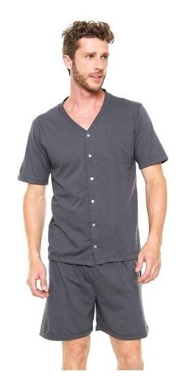 Pijama Masculino Curto Com Botões - Lupo
