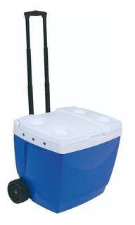 Caixa Térmica 42l Com Puxador Azul Mor