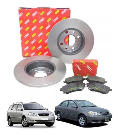 Pastilhas + Discos Toyota Corolla 2003 A 2008 - Trw Kit