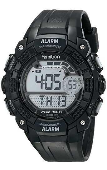 Reloj Digital 408209blk De Armitron Sport Para Hombre.