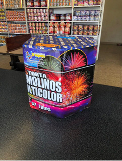 Torta Remolinos Multicolor De 37 Disparos Marca Vaquero