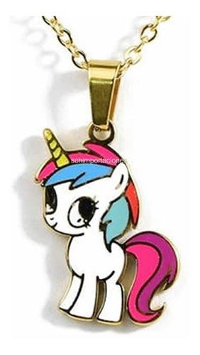 Pack Unicornio My Little Pony Set Colgante Y Aritos - Acero