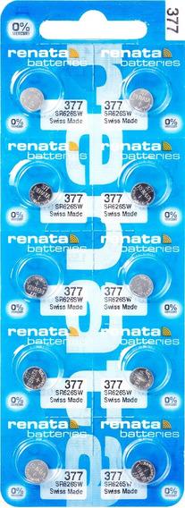 100 Pilhas Baterias 377 Relógio 1.55v Renata Sr626s Original