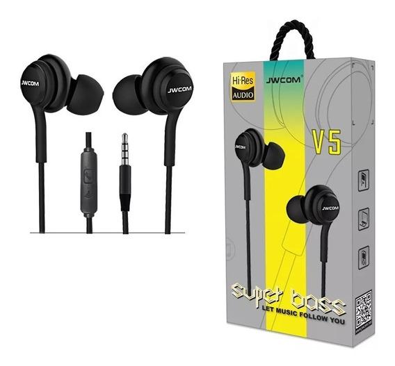 Fone De Ouvido Com Microfone In-ear Fo-v5 Super Bass