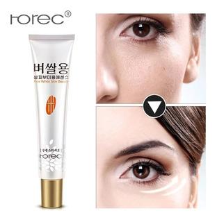 Crema Ojos Arroz Acido Hialuronico Reduce Ojera Blanquea