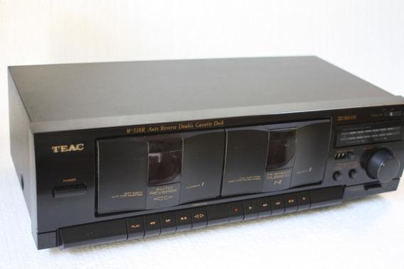 Tape Deck Teac W-518r Auto Reverse Double Cassette Deck 207