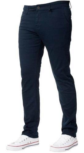 Pantalón Chino De Gabardina De Hombre Colores Premium