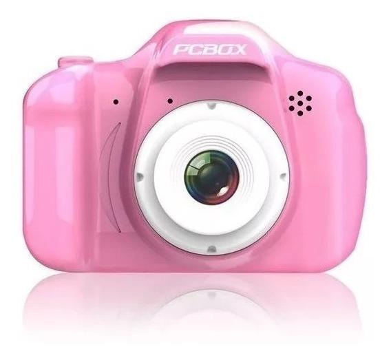 Cámara Fotográfica Para Niños Pcbox Click Pcb- Kcr Rosa