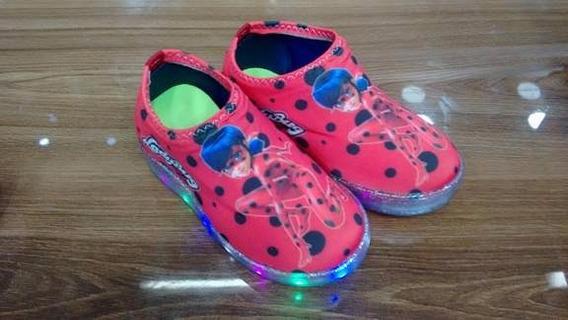 Tênis Led Ladybug Infantil