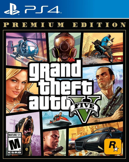 Jogo Grand Theft Auto Gta V Ps4 Premium Física Portugues