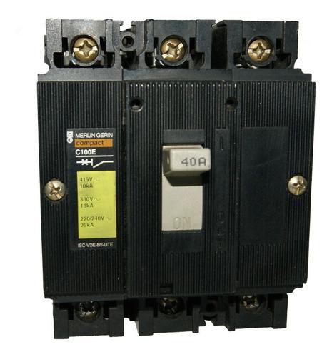 Totalizador Trifasico 40amp Compact C100e Merlin Gerin 00178