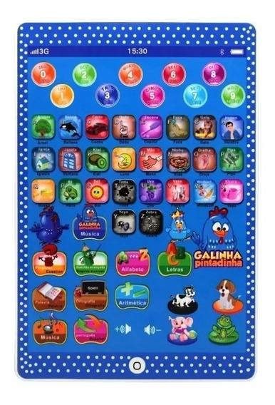 Tablet Infantil Educativo Multifunções Galinha Pintadinha