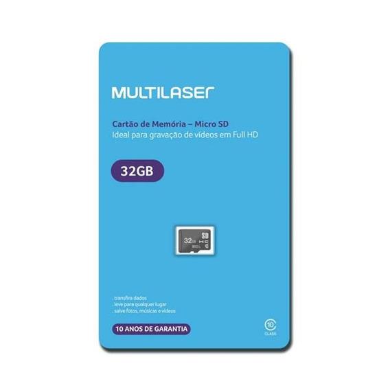Cartao De Memoria Classe 10 32gb Para Smartphones - Mc145