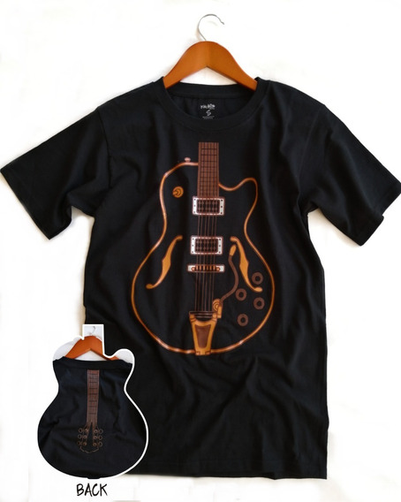 Playera Guitarra Frente-espalda