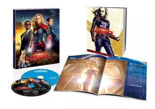 Captain Marvel Capitana Blu Ray 4k Libro Pelicula Avengers