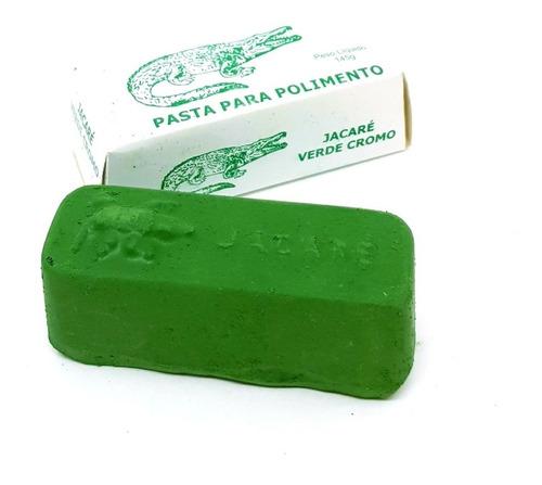 Pasta De Polir Jacaré Verde Cromo 145g Abrasivo Afiar Facas