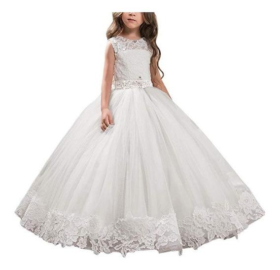 Abaosisters Vestido Para Niñas Elegante Fiesta Boda Flores