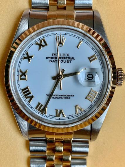 Espectacular Rolex Datejust Acero Oro Num Romanos Zafiro Sub