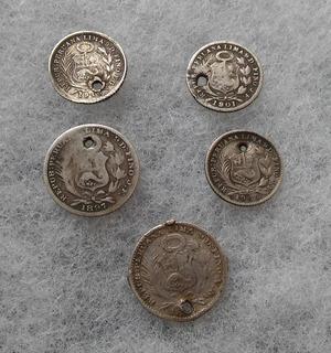 Peru Lote Monedas De Plata Antiguas