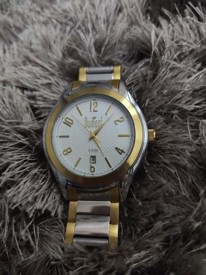 Relógio Feminino Dumont Original Prata Dourado