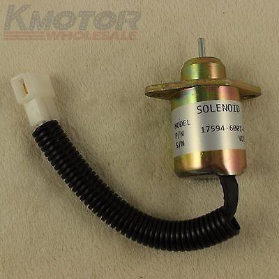 Nuevo Combustible 12v Cierre Cierre Solenoide Kubota Yanmar