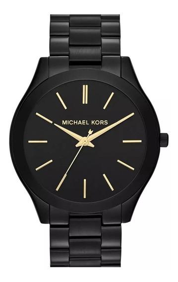 Relógio Michael Kors Mk3221 Feminino Slim Preto