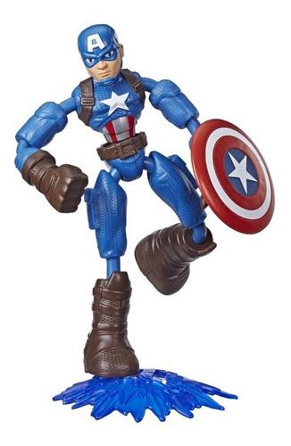 Imagem 1 de 2 de Boneco Marvel Avengers Bend And Flex Capitão América Hasbro
