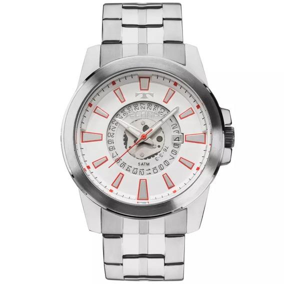 Relógio Technos Masculino Prateado 2117lah/1b *frete Gratis