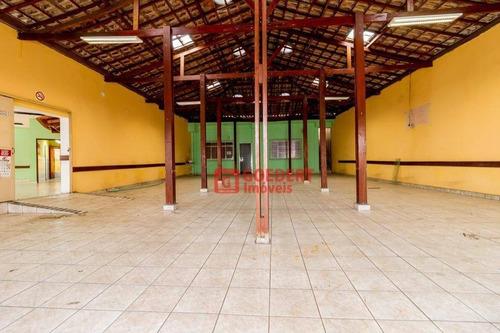 Salão Para Alugar, 276 M² Por R$ 3.000,00/mês - Cidade Jardim Cumbica - Guarulhos/sp - Sl0098