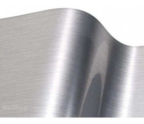 Aluminio  Cepillado  Vinilo Adhesivo Tuning  61cm X 1,50m