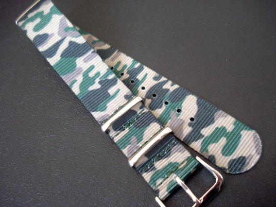 Pulseira Nylon 20 Mm Camuflada Exercito Militar